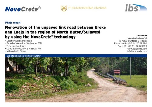 Renovation of the unpaved link road between Ereke and Laeja