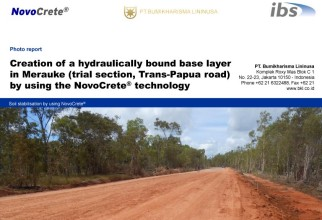 Creation of a hydraulically bound base layer in Merauke