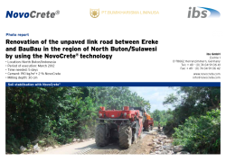 Renovation of the unpaved link road